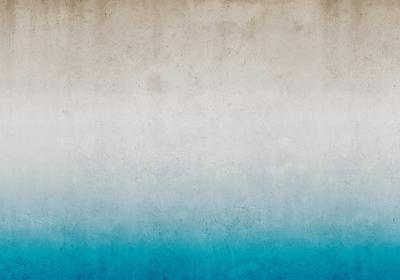 Fototapeta Imitacja betonu z turkusowym akcentem
