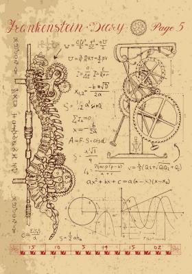 Plakat Anatomia kręgosłupa z wbudowanym mechanizmem