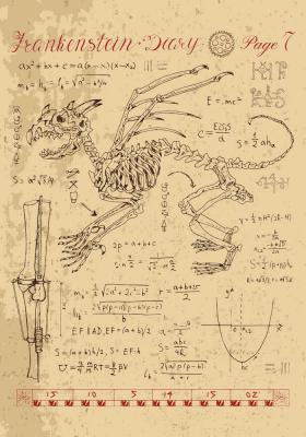 Plakat Anatomia szkieletu nieznanego stworzenia
