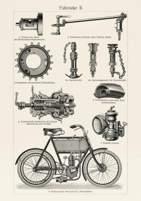 Plakat Budowa motoroweru