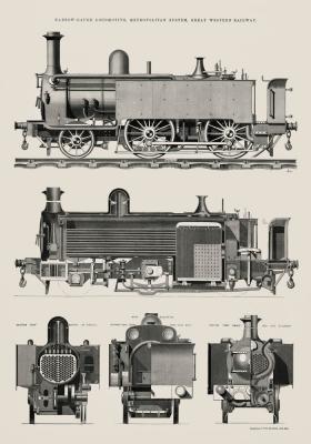 Plakat Pociąg silnikowy