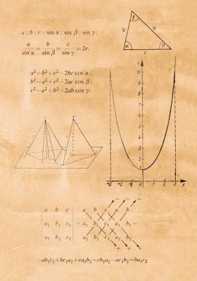 Plakat Wzory matematyczne