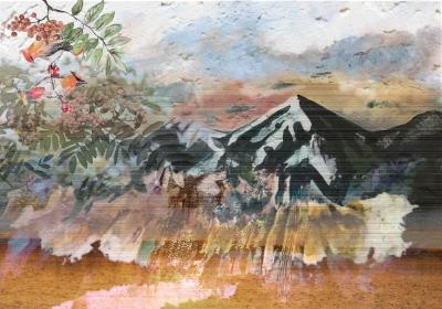 Fototapeta Krajobraz gór w stylu azjatyckim