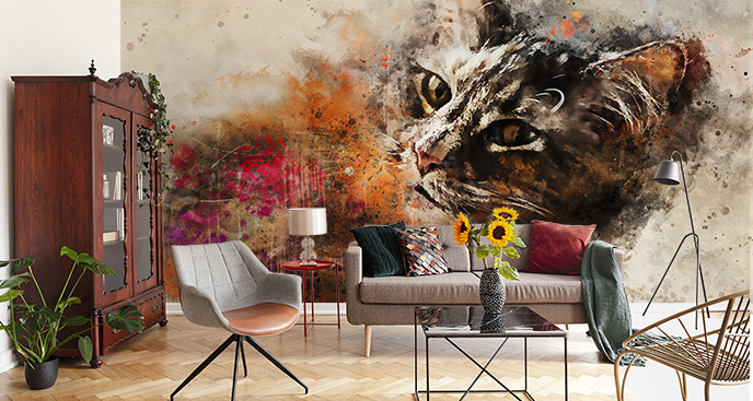 Abstrakcyjna fototapeta kot