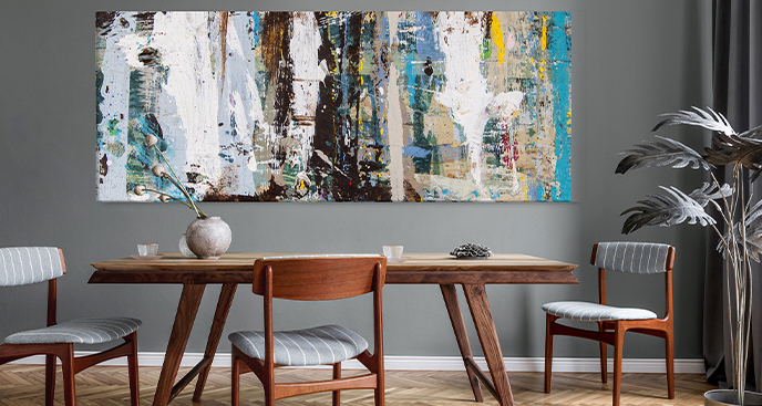 Abstrakcyjny obraz do pokoju dziennego