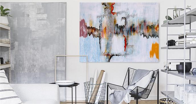 Abstrakcyjny obraz w stylu modern