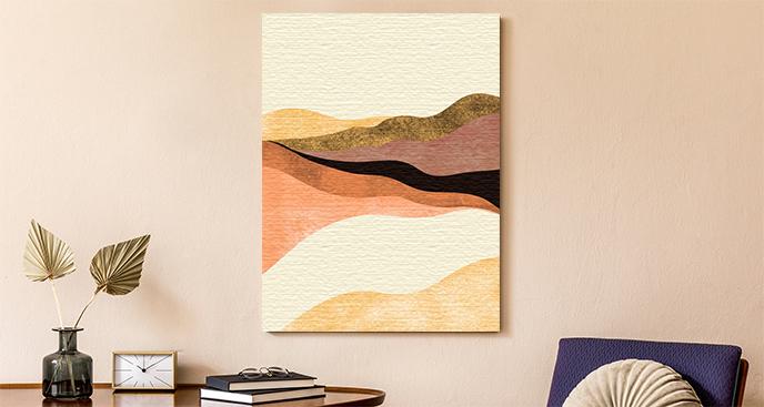 Abstrakcyjny obraz z pustynią