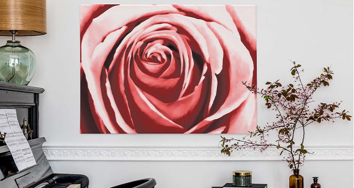 Obraz róża czarno-biała