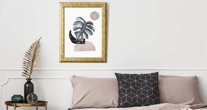Abstrakcyjny plakat do sypialni