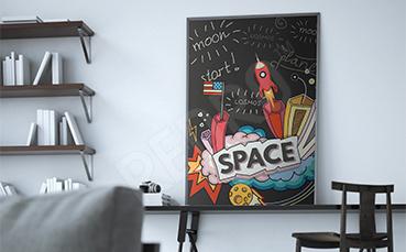 Abstrakcyjny plakat kosmos
