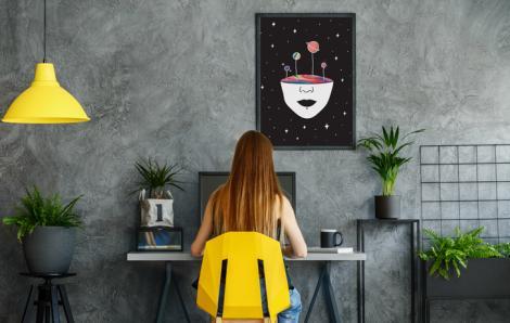 Abstrakcyjny plakat planety