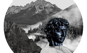 Antyczna rzeźba w górach