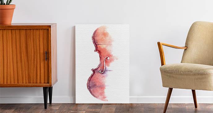 Artystyczny obraz ze skrzypcami