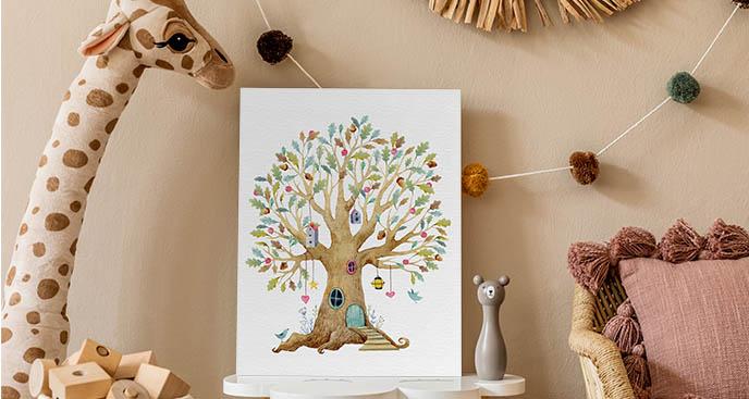 Bajkowy obraz drzewa
