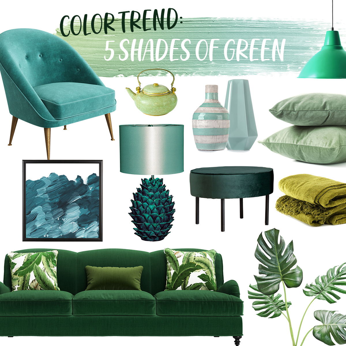 Color trend - 5 shades of green