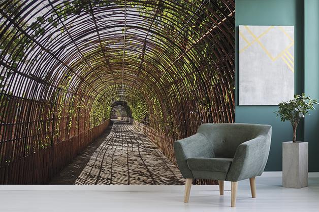 Fototapeta - Bambusowy tunel w Tajlandii