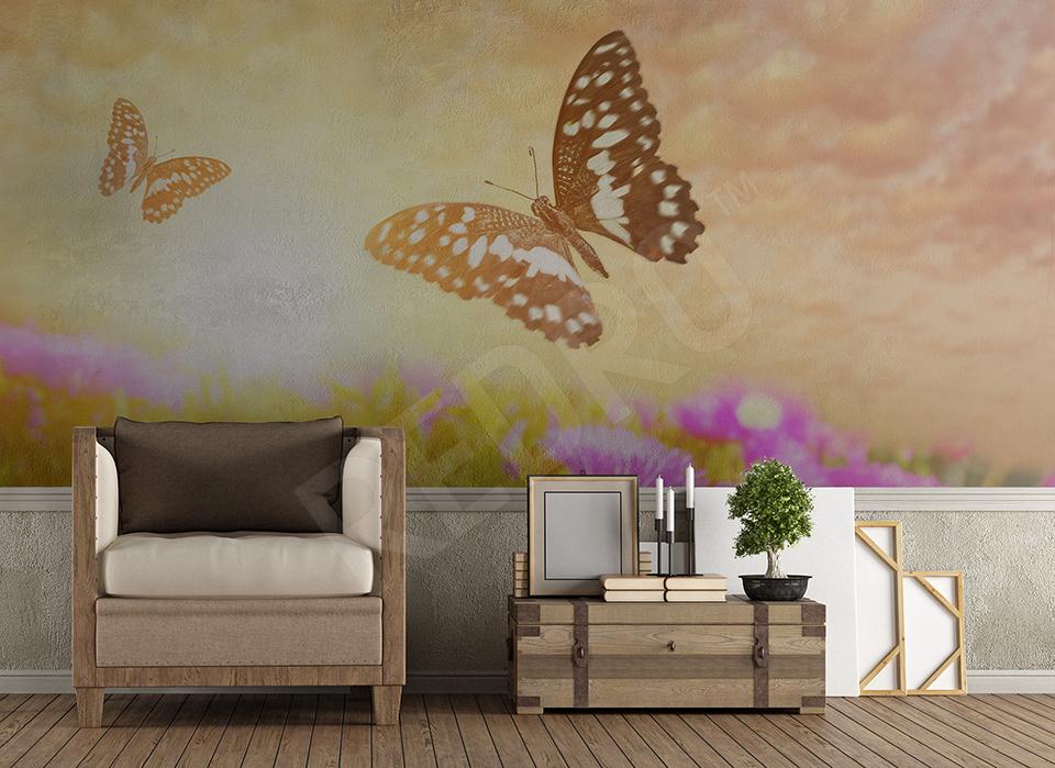 Fototapeta łąka motyli