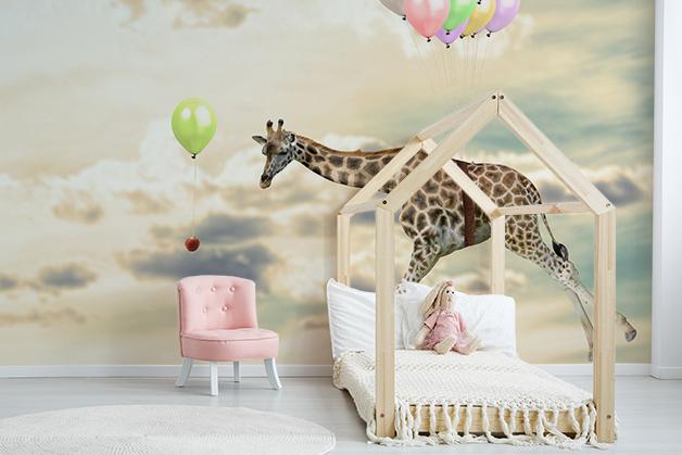 Fototapeta - Latająca żyrafa