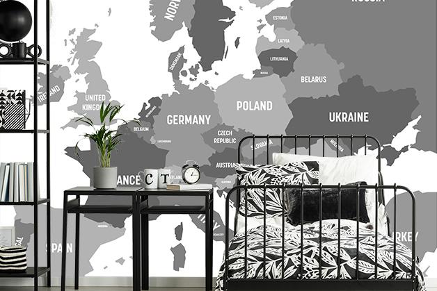 Fototapeta - Mapa Europy