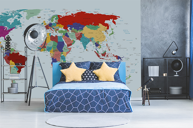 Fototapeta - Mapa Swiata