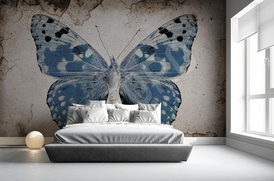 Fototapeta motyl w stylu indusrialnym