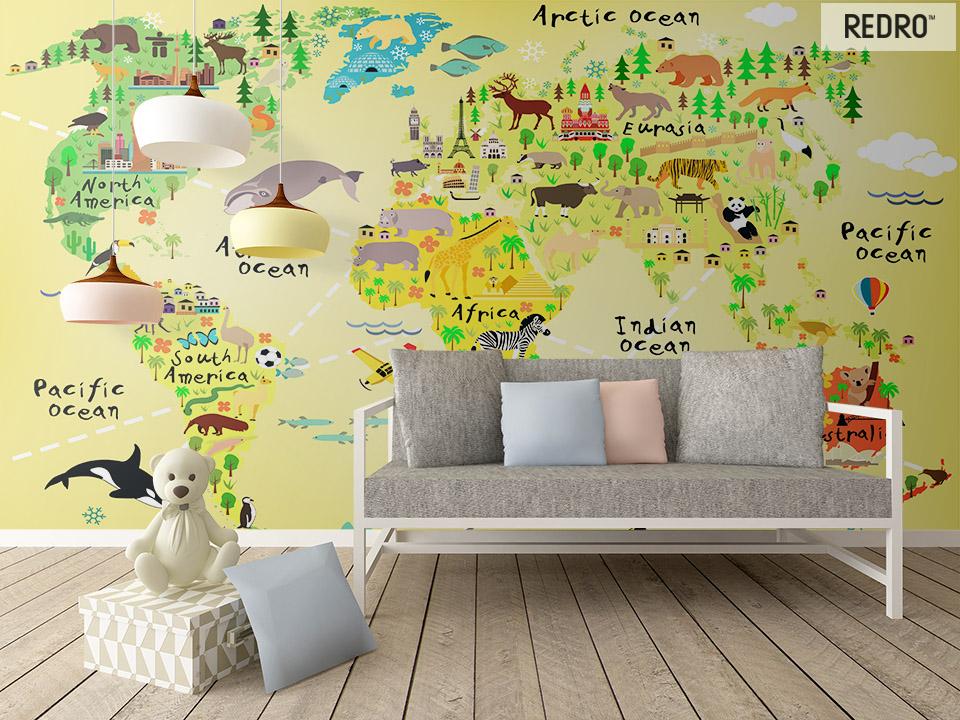 Fototapeta na ścianę mapa świata