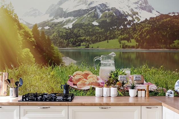 Fototapeta - Piknik w Alpach