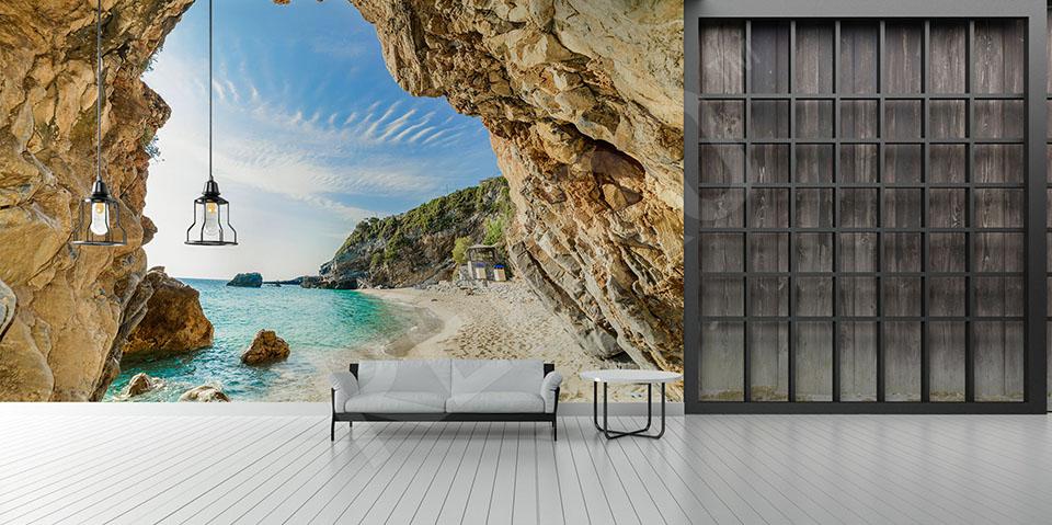 Fototapeta plaża i skały