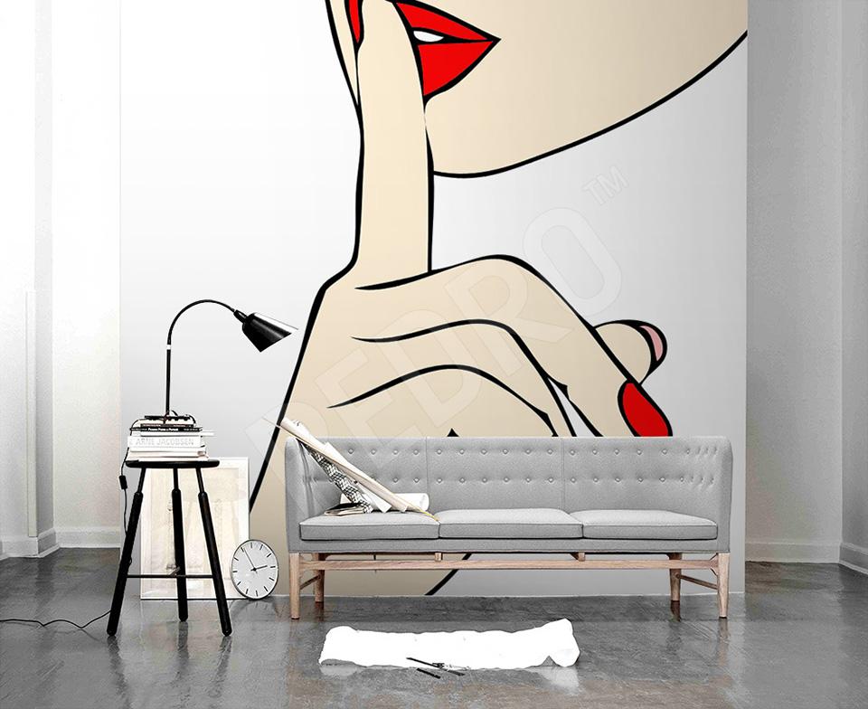 Fototapeta pop art do salonu