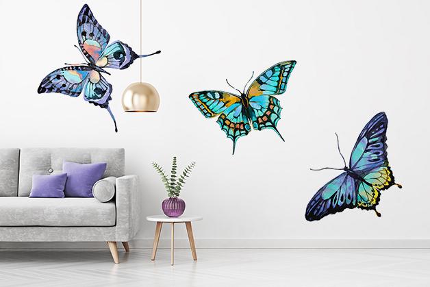 Naklejka - Kolorowe motyle
