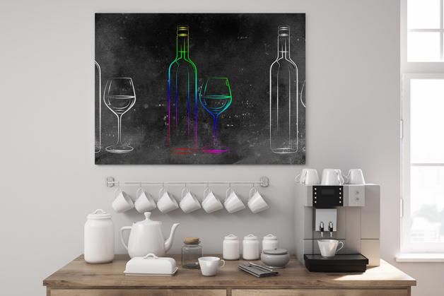 Obraz - Ilustracja z butelkami