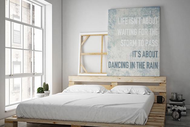 Obraz motywacyjny - Cytat o tańcu w deszczu