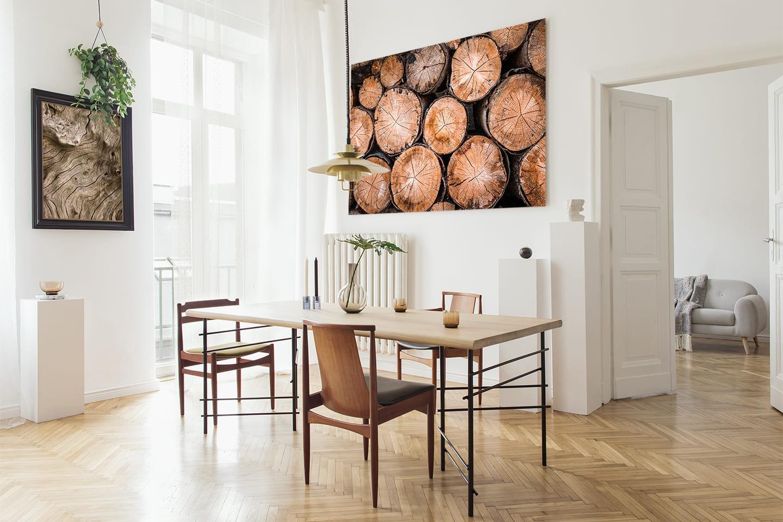 Obrazy z motywem drewna