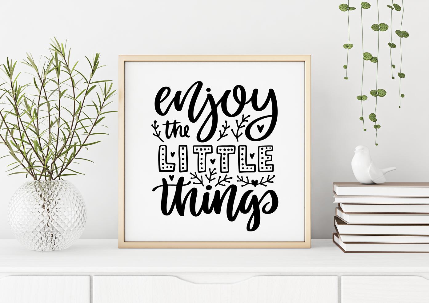 Plakat - Ciesz się z małych rzeczy