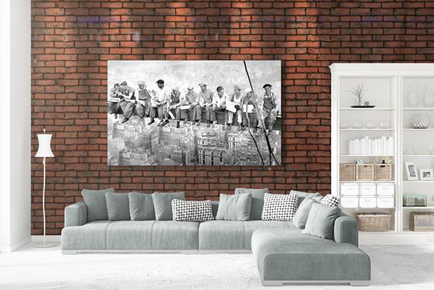 Plakat - Robotnicy w czasie posiłku - New York 1932