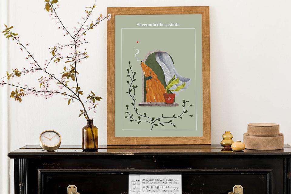Plakat serenada dla sasiada