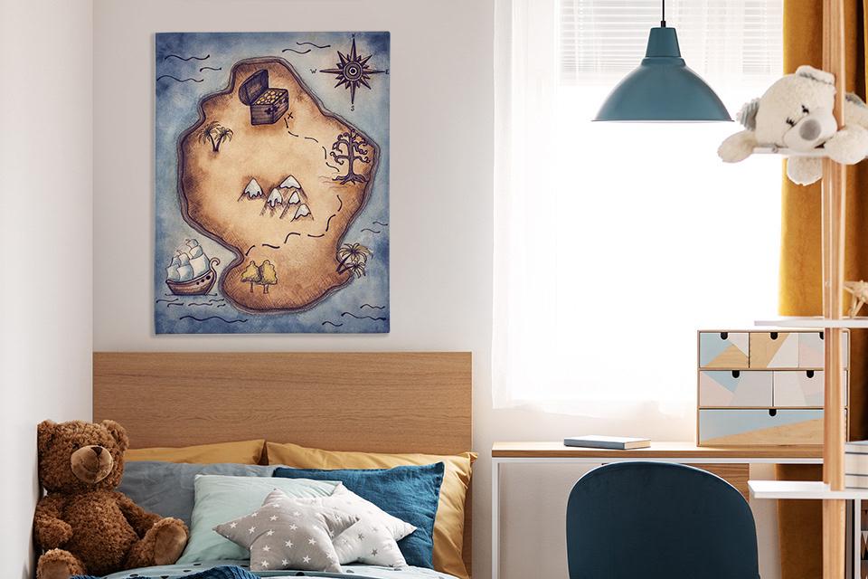 Plakat z piracką mapą