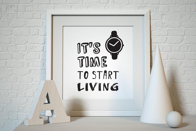 Plakat - Zacznij żyć