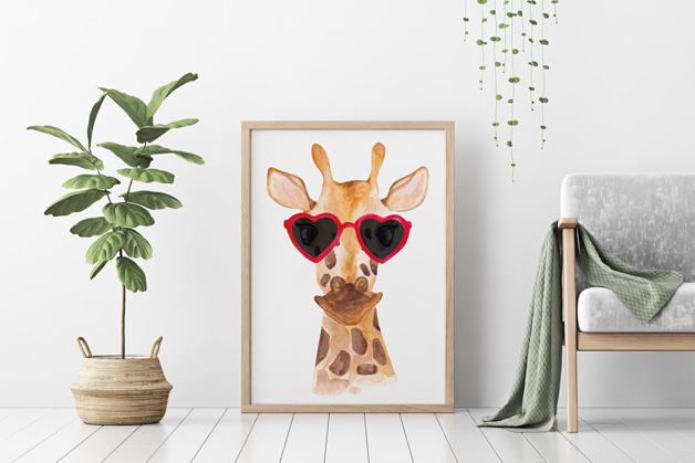 Plakat - Żyrafa