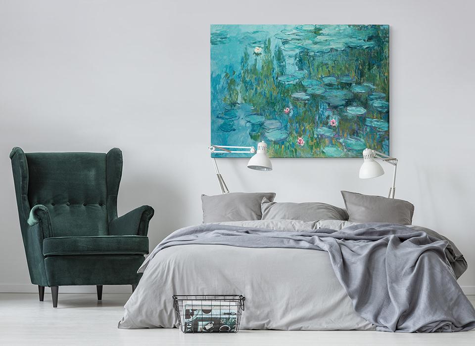 Reprodukcje obrazów Moneta szczególnie dobrze będą pasować do mieszkań w jasnych, subtelnych kolorach