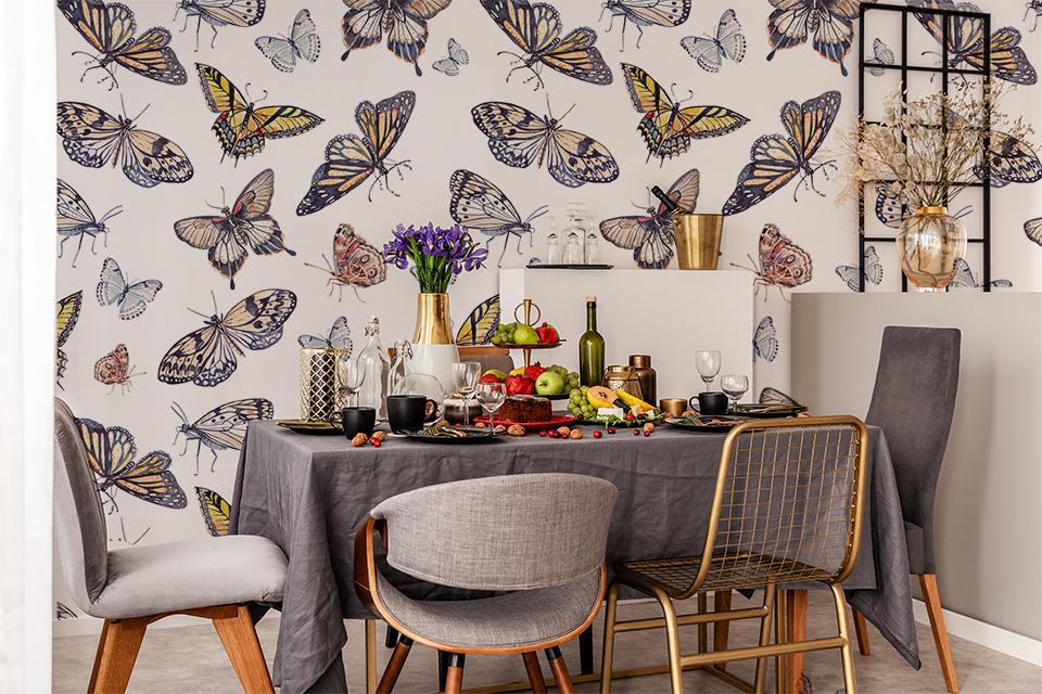 Uniwersalna dekoracja ścienna - motyle sprawdzą się w niemal każdej aranżacji