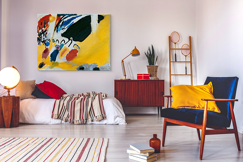Wassily Kandinsky – autor abstrakcyjnych obrazów, które będą rewelacyjną dekoracją do nowoczesnych, kolorowych i wyrazistych mieszkań