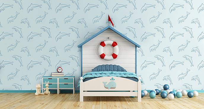 Błękitna tapeta dla dzieci