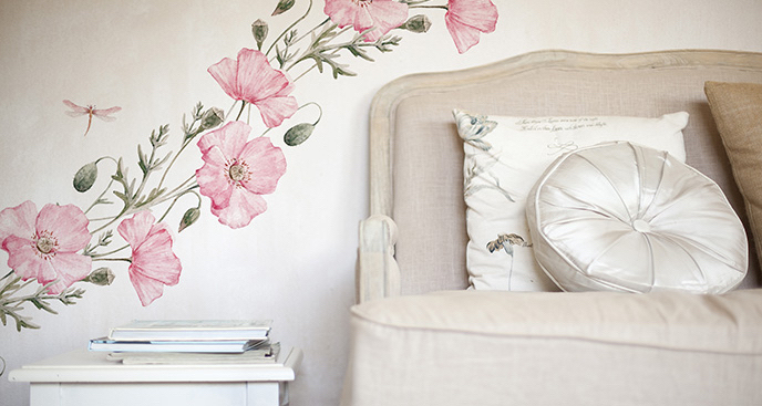 Botaniczna naklejka do sypialni
