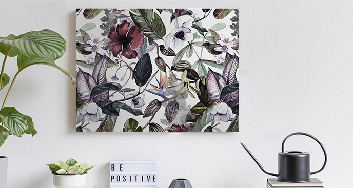 Obraz kwiaty do jadalni