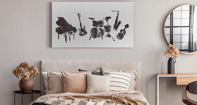 Czarno-biały obraz muzyka