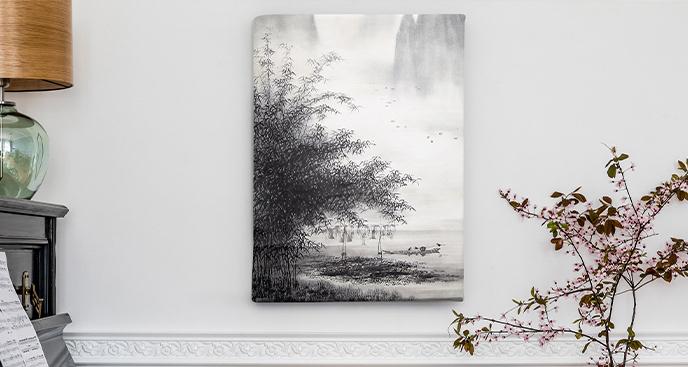 Czarno-biały obraz natura