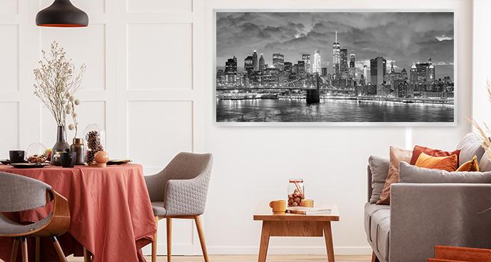 Czarno-biały plakat Nowy Jork