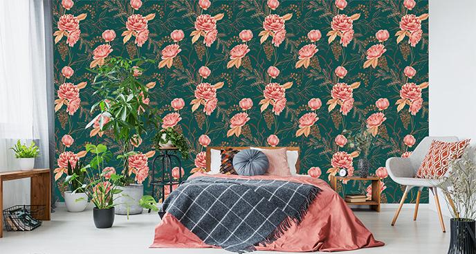 Dekoracyjna tapeta z magnolią