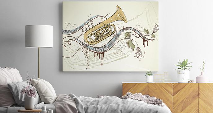 Dekoracyjny obraz instrumenty